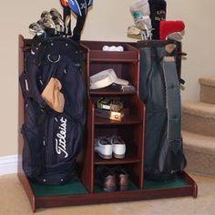 Double Golf Rack to keep the golf gear organized.