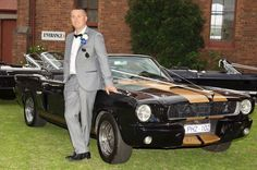 Mustangs in Black 1966 and 1967 GT Convertible Ford Mustangs, including our Shelby GT350 out for a wedding shoot in Melbourne.