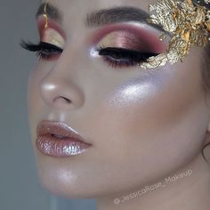 """45.7k Likes, 126 Comments - Lime Crime (@limecrimemakeup) on Instagram: """"Glow on, queen @jessicarose_makeup ✨✨ Details: - HI-LITE: Unicorns in Daydreamin' - OVER THE…"""""""