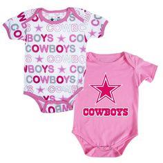 Dallas Cowboys Cutie Patootie 2-Pack Onesie Set $20