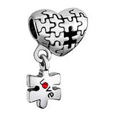 Puzzle Herz Charme baumeln Love rot Geburtsstein Perle Charm für Pandora Chamilia Charms Armbänder - http://schmuckhaus.online/fit-pandora-style-charms/puzzle-herz-charme-baumeln-love-rot-geburtsstein