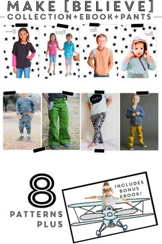 Make (Believe) + Pants Collection PACKAGE C | Pattern Anthology