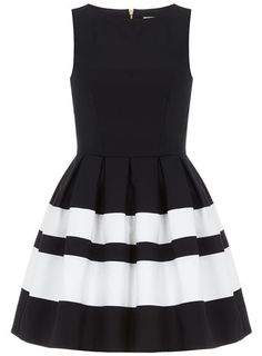 Dorothy Perkins Navy stripe band dress