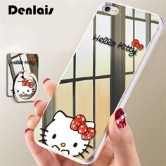 3D Mirror Cartoon Cute Hello Kitty Case For iPhone 7 7Plus 6 6S Plus 5 5S