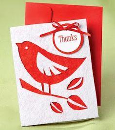 Bird silhouette thank-you card