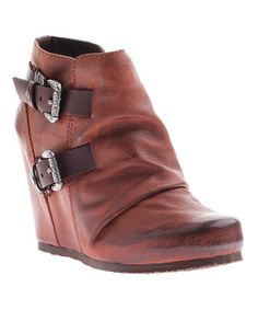 This Saddle Rapid City Leather Wedge Boot is perfect! #zulilyfinds