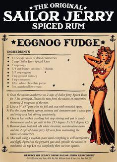 Eggnog Fudge with Sailor Jerry Rum