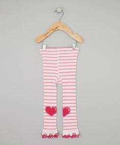 Look what I found on #zulily! Pink Stripe Heart Footless Tights - Infant, Toddler & Girls by Naartjie Kids #zulilyfinds