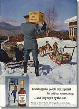 1964 Chauffeur - Rolls - Dog Sled - Imperial Whiskey Ad