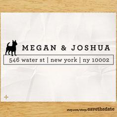 "CUSTOM ADDRESS STAMP - Eco Friendly & self inking, gifts for wedding, housewarming, etsy labels, return address stamp ""Dog Lover"". $27.95, via Etsy."