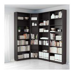 BILLY Librería - negro-marrón - IKEA