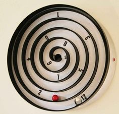bedroom cool wall spiral clock pop art balls pointing clock for wall decoration design simply cool and unique wall designs for bedrooms 1166x1119