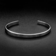 Sterling Silver Cuff Bracelet-5mm-Oxidized by MrSmithJewelry