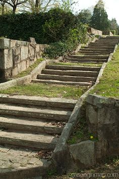 Stairs in the Decatur cemetery