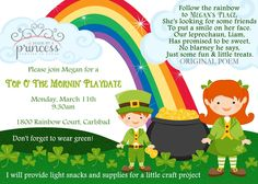 Top o' the Mornin' St. Patrick's Day Breakfast | Made By a Princess Parties in Style #stpatricksday #stpatricksdayinvitation #playgroupinvitation #stpatricksdaybreakfast