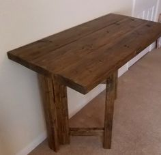 Rustic Space Saving Drop Leaf Breakfast Bar/Kitchen by rusticfare