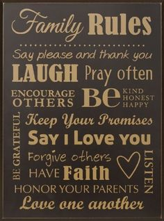 P. Graham Dunn SER11 Family Rules-11X15 Blk by P. Graham Dunn. $29.99. Great Gift Idea.. Manufactured to the Highest Quality Available.. Inscription: Say please and thank you, Laugh, Pray often, Encourage others, Be Kind. Dimensions: 18H x 11.5W.. Design is stylish and innovative. Satisfaction Ensured.. P. Graham Dunn is best known for engraving and carving wood products. Our carved tablets start their journey in our design lab. After a design is created in a com...