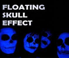 Halloween haunted house #Halloween party: Floating Skulls Treasure Chest Hologram (Updated)