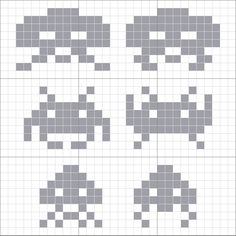 Space Invaders cross stitch