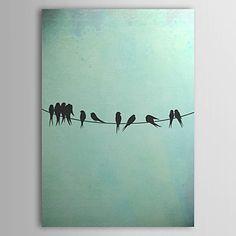 現代アートなモダン キャンバスアート 絵 壁 壁掛け 油絵の特大抽象画1枚で1セット 小鳥 動物 ツバメ 電線 ワイヤー バード シルエット【納期】お取り寄せ2~3週間前後で発送予定【送料無料】ポイント