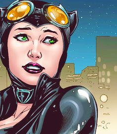The new 52 Catwoman Close up