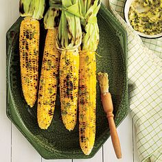 Grilled Corn on the Cob with Roasted Jalapeño Butter   CookingLight.com