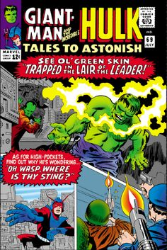 Tales to Astonish 69 VG Giant Man Wasp 1965 Marvel Comics Hulk Marvel Comics Superheroes, Marvel Comic Books, Marvel Heroes, Comic Books Art, Hulk Marvel, Marvel Fan, Spiderman, Comic Book Artists, Comic Book Characters