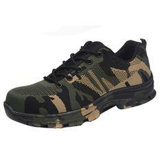 5d75fe871a66a Tanie: Buty sportowe kamuflażu pracy bezpieczeństwa buty dla kobiet obuwie  ochronne Anti przerwa Piercing alpinizm