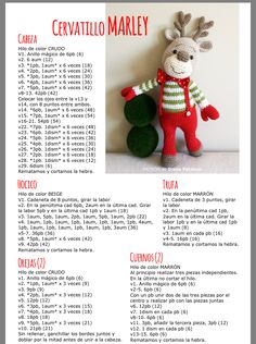 Crochet Christmas Decorations, Christmas Crochet Patterns, Crochet Animal Patterns, Crochet Decoration, Stuffed Animal Patterns, Crochet Patterns Amigurumi, Crochet Animals, Crochet Dolls, Knitting Patterns