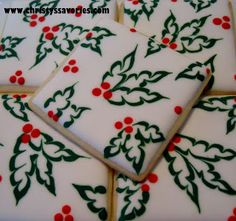 Christy's Savories: Holly Tile Christmas Cookies
