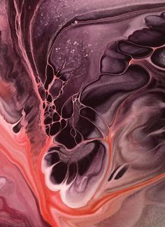 Nancy Wood Art — woodblend:   Deep Within  Fluid acrylic abstract...
