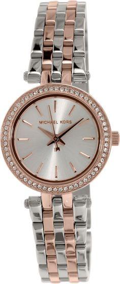 Michael Kors Womens Darci MK3298 Silver Stainless-Steel Quartz Fashion Watch
