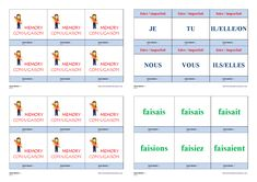 Un jeu de conjugaison pour apprendre et mémoriser la conjugaison à l'imparfait des verbes faire - prendre - pouvoir - devoir. Cycle 3, Mindfulness, Memories, Teaching, Education, School, Life, Montessori, Frans