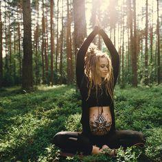 alai oli, nature, harmony, love, sun, shine, green, forest, dreadlocks, happy