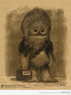 Lil' Chewwie's back to school photo. (I love the Star Trek lunch box. Lol!)