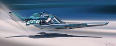 Racer ship - Blue, Long Pham on ArtStation at http://www.artstation.com/artwork/racer-ship-blue