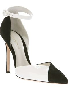 GIANVITO ROSSI Bi-Colour Pump
