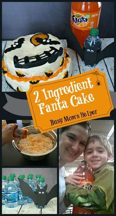 Two Ingredient Fanta Cake & Dasani Bats / by Busy Mom's Helper #SpookySnacks #Shop #Printable #Recipe