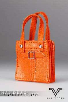 HB2003-07 The Vogue Orange Leather Designer Hobo Handbag