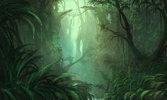 Best jungle in Tarzan Jungle Drawing, Jungle Art, Environment Concept Art, Environment Design, Fantasy Places, Fantasy World, Fantasy Concept Art, Fantasy Art, Fantasy Landscape