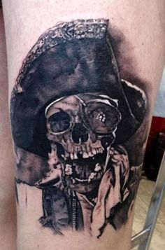 One-Eyed Willy black & gray tattoo by Matteo Pasqualin