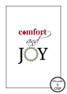 Free Christmas Printable Comfort and Joy