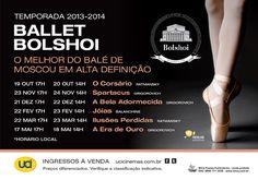 Confira as datas e apresentações do Ballet Bolshoi em alta definição oferecidas pela rede de cinemas UCI.