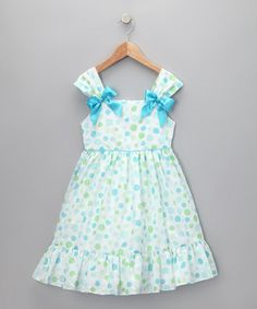 Blue and green spring dress