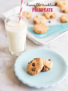 Paleo Chocolate Chip Cookies and Paleo Eats Cookbook and Almond Flour Giveaway! grain free chocolate chip cookie recipe with cookbook and almond flour giveaway. Paleo Chocolate Chip Cookie Recipe, Paleo Chocolate Chips, Easy Chocolate Chip Cookies, Paleo Cookies, Paleo Treats, Dairy Free Recipes, Real Food Recipes, Cookie Recipes, Healthy Recipes