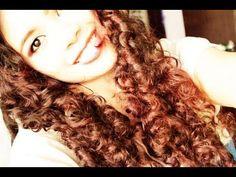 No heat Straw Curls Method 4- Heat free Doll Curls- Big Voluminous Hair ...
