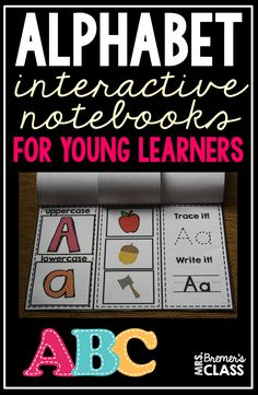 These alphabet interactive notebooks are perfect for practice with letter recognition, letter sounds, and letter printing! The hands-on learning is engaging for young learners. Alphabet Activities Kindergarten, Learning The Alphabet, Back To School Activities, Kindergarten Teachers, School Ideas, Back To School Pictures, Printing Practice, Letter Recognition, Letter Sounds