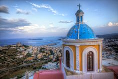 Syros is the island where Greek tradition and western influence come to a harmonious marriage! Greece Vacation, Greece Travel, Greek Beauty, Dream Vacations, Travel Guides, Trip Planning, Traveling By Yourself, Taj Mahal, Island