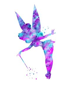 Purple Tinkerbell art print Purple Tinkerbell by FluidDiamondArt