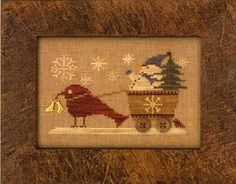 Primitive Cross Stitch Pattern  Delivering by FiddlestixDesign